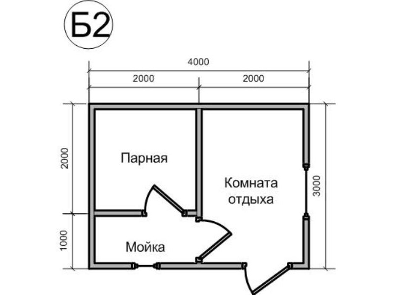 Строительство бани 3 на 4 из бруса своими руками 25