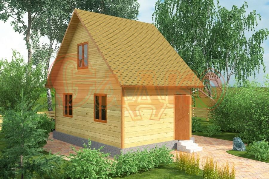 Садовые каркасные домики с мансардой своими руками